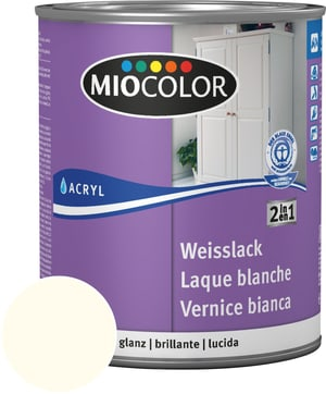 Vernice acrilica bianca lucida bianco vecchio 750 ml