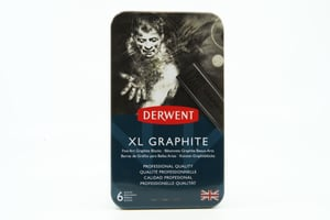 6 Derwent XL Grafite in scatola di metallo
