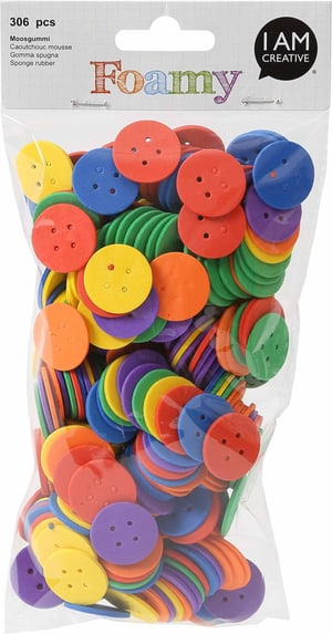 FOAMY, butons, 306 pcs