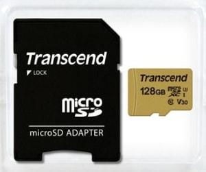 microSD Card 500S, MLC 128GB SDXC inkl. Adattatore