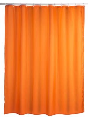Rideau de douche Uni Orange anti-moisissure
