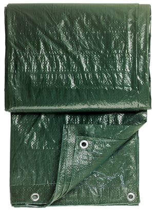 Gewebeplane grün, 3x4m mit Ösen