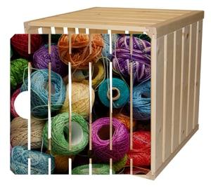 Cassetta in legno A1/2 con porta lana