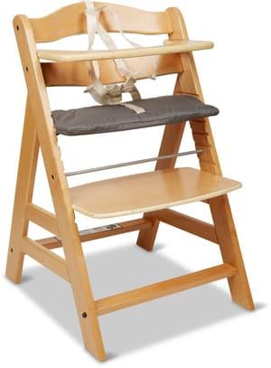Chaise haute Alpha naturel incl. coussin
