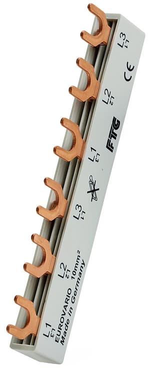 Sammelschienenblock 3-phasig , 10mm2/60