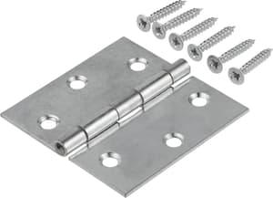 Scharnier mit Schraube verzinkt 60 x 34 mm