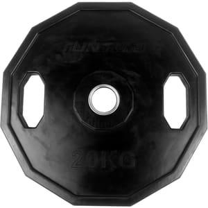 Gummierte 20 kg Hantelscheibe 50 mm