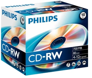 CD-RW 700 Mo 10-Pack
