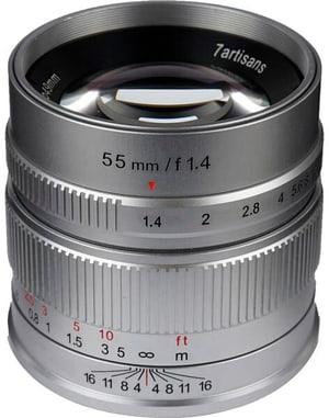 55mm F1.4 Sony E argento