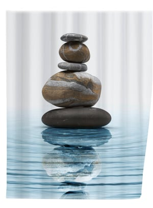 Duschvorhang Meditation