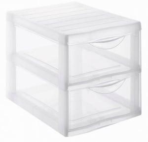 Schubladenbox A4, 2 Schübe Orgamix