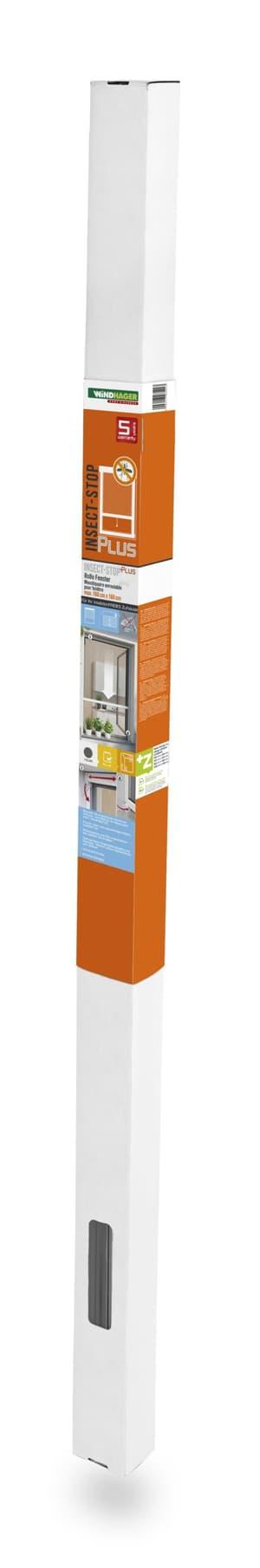 Zanzariera avvolgibile per finestra 100x160 cm, antracite