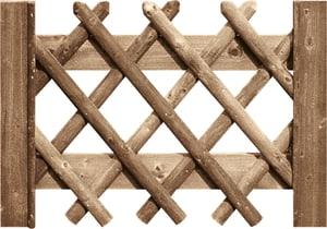 Cancello per steccato a griglia