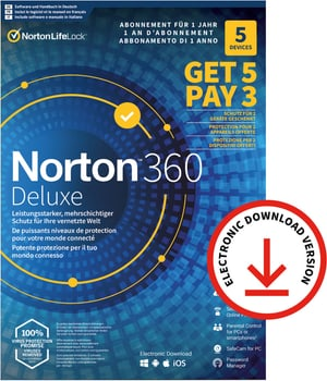 Security 360 Deluxe with 50GB 5 for 3 Devices - PC/Mac/Android/iOS - ESD