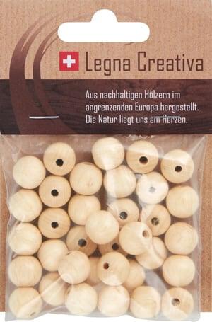 Boules en bois 12mm laqués 35 pc