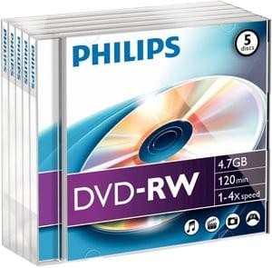DVD-RW 4.7 Go Data 5-Pack