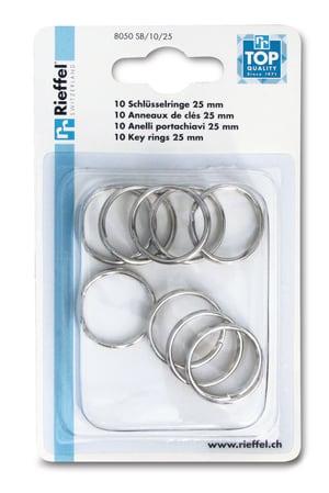 Anelli portachiavi 25mm, 10 pezzi