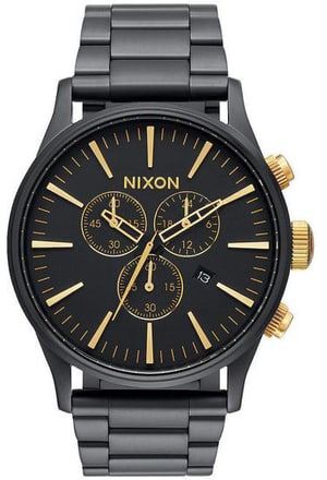 Sentry Chrono Matte Black Gold 42 mm