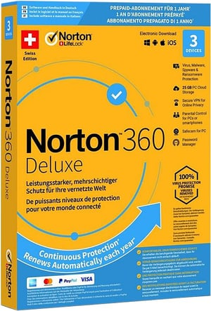 PC/Mac/Android/iOS - Norton Security 360 with 25GB 3 Device