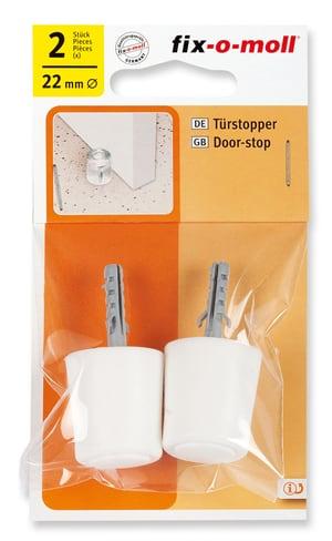 Türstopper mit Schraube und Dübel Ø 26 mm 2 x