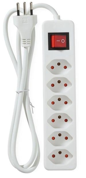 Steckdosenleiste 6x mit Schalter (1.5m)