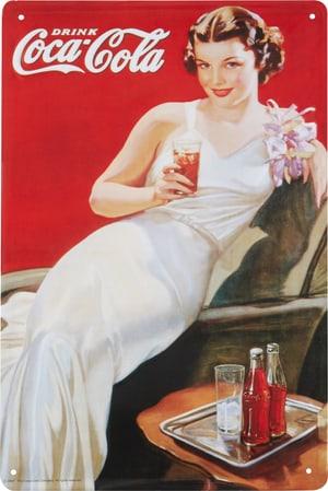 Werbe-Blechschild Drink Coca Cola