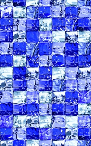 Pellicola per vetri statica Ice Cube