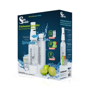 Soda Sparkle Soda Sparkle Twin Starter Pack Machine à eau gazeusse
