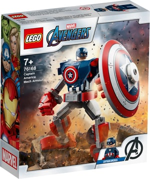 Marvel 76168 L'armure robot de Captain America