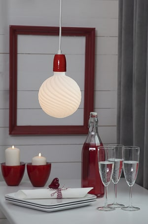 Câble de lampe avec douille rouge