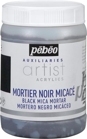 Pébéo Acrylic Mortier noir micacé