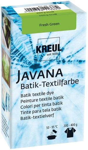 Peinture textile batik vert