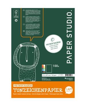 Tonzeichenpapier Block A4, 100 Blatt