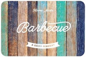 BBQ Holz multicolor bedruckt