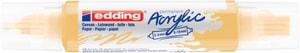 edding Acrylmarker 5400, double liner, pastellgelb