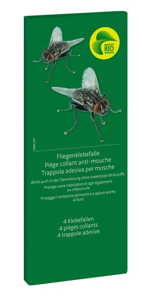 Fliegenklebefalle, 4 Klebefallen