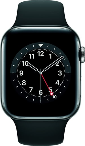 Watch Series 6 LTE 44mm Graphite Stainless Steel Black Sport Band