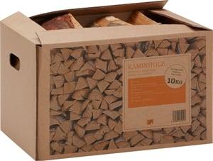 Bois de chauffage bouleau, 10 kg carton