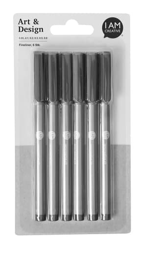 Fineliner Set, 6 Stk.
