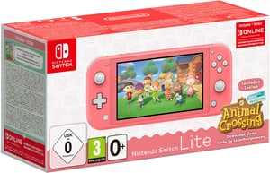 Nintendo Switch Lite Koralle + Animal Crossing New Horizon + NSO