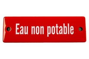 Emailschild Eau non potable