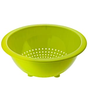 CARUBA Küchensieb mit sicherem Stand, Kunststoff (PP) BPA-frei, grün