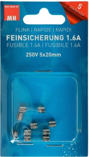 Feinsicherung Flink 1.6A 5 Stk.