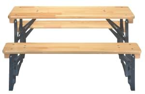 Tavolo e panche per bambini, 110 cm