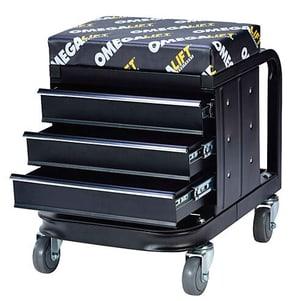Montage-Hocker mit 3 Schubladen