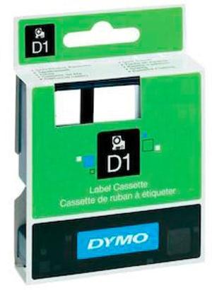 Cassetta Nastro D1 nero/bianco