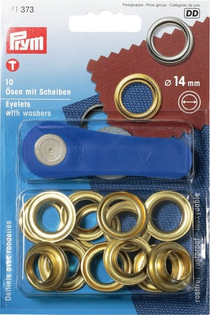 Oeillets avec rondelles Ø 14mm