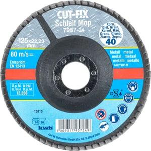 CUT-FIX® Disque abrasif, pour le métal, ø 125 mm, K40