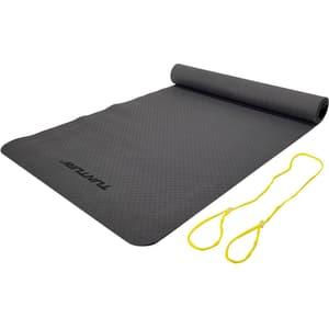 Tappetino yoga TPE antiscivolo antracite 3 mm