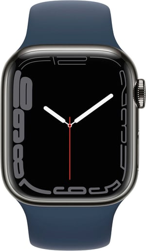 Watch Series 7 GPS + Cellular, 41mm Graphite  Blue Sport Band